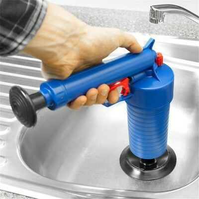 High Pressure Air Drain Blaster Pump Plunger Sink Pipe Clog Remover Cleaner Kit