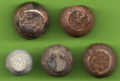 ANCIENT VIKING BRONZE-IRON TRADER WEIGHT ca 10-12 century AD SET OF 5 pc. 417