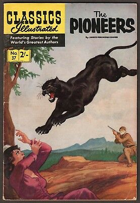 "Classics Illustrated #37 ""the Pioneers"" Hrn129 Foreign Edition- England"