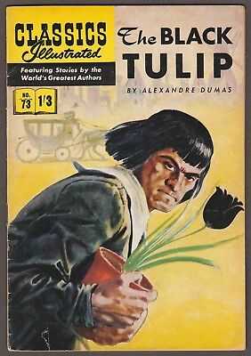 "Classics Illustrated #73 ""the Black Tulip"" Hrn126 Foreign Edition- England"