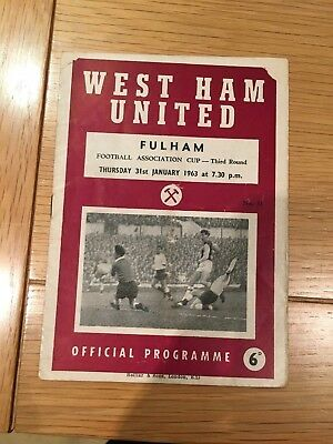 West Ham United V Fulham FC, FA CUP 3rd Round , POSTPONED GAME, January 1963