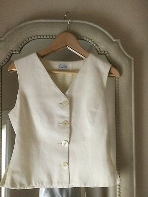 Womans casual classic cream waistcoat united colors of benetton uk size 12
