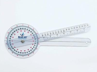"Ever Ready Plastic 12"" Goniometer 360 Degree ISOM- Top Quality by BLUE JAY"