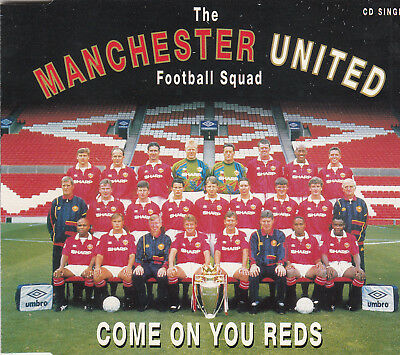 MANCHESTER UNITED FC Come on you Reds - 1994 2 Track CD