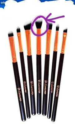 Lamora 7 Piece Eye Brush Set Synthetic Makeup Brushes - Black [HB-L]