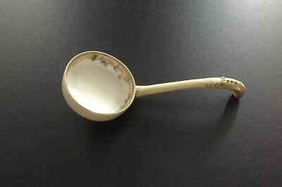 """vintage antique porcelain Nippon spoon signed """"hand painted"""" rare with gold trim"""