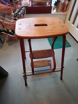 Industrial stool with steps