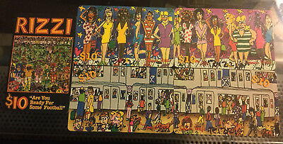 James Rizzi - 5 Rizzi Hand-Signed Phone Cards