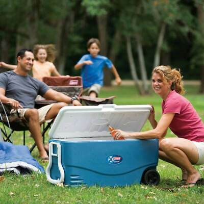Coleman 6201A748 100-Quart 2-Way Handle Xtreme 5 Wheeled Cooler - Blue