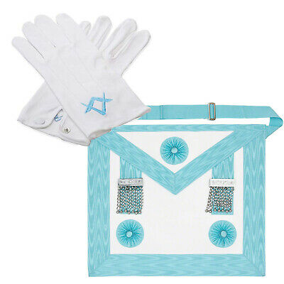 Master Mason Apron (Lambskin),Masonic Cotton Gloves Without Shoulder bag