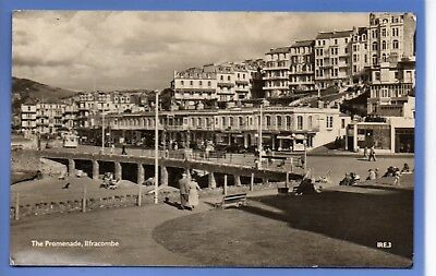 Old Vintage 1963 Rp Postcard The Promenade Ilfracombe Devon