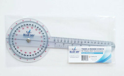 "Goniometer  6"" Plastic 360 Degree Goniometer -New- Free Shipping"