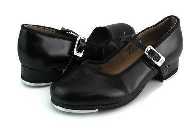 Bloch Techno Tap Girl's Blak Mary Jane Cuban Heel Tap Shoes US Size 11 M