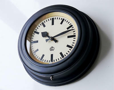~1920 Antique german CTW Industrial Clock wall Bauhaus old large station factory