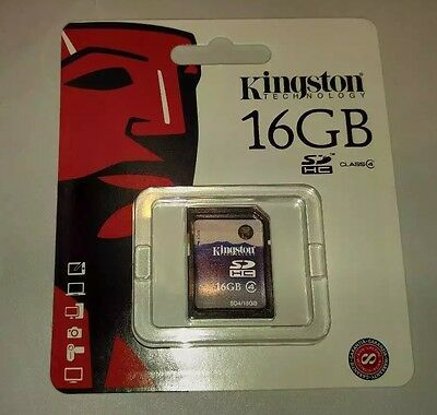 Kingston 16 GB Class 4 SDHC Flash Memory Card SD4/16GB (Fresh Inventory!)