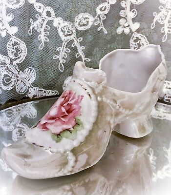 Antique Porcelain MARIE ANTOINETTE Style SHOE Marked GERMANY