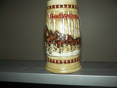 Budweiser 1981 holiday stein second in series  (cracked)