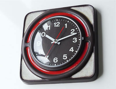 Beautiful 70s orig. JUNGHANS kitchen clock wall retro vintage space age n krups