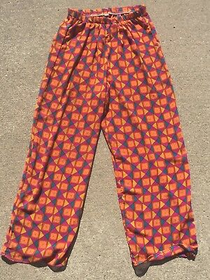 Vintage Small Colorful Sheer Pants Orange Yellow Pink Teal Poss 60s/70s