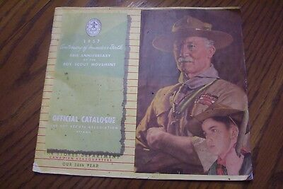 Vintage 1957 Boy Scout Canada Official Uniform Catalog  50th Anniversary 24 page