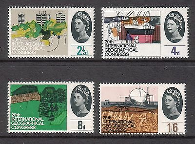 SG651p-654p 1964 GEOGRAPHICAL CONGRESS PHOSPHOR  ~ UNMOUNTED MINT GB