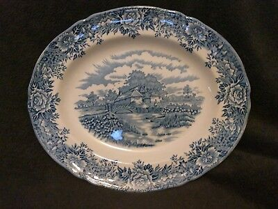 "Vtg English Village By Salem China Co. Olde Staffordshire 12"" Serving Platter"