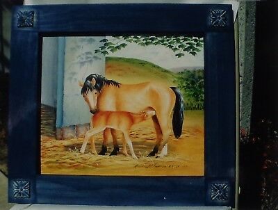 """Linda McFadden tole painting pattern """"Mare and Foal"""""""