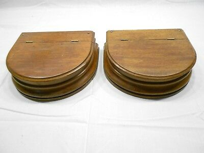 Vintage Wood Dresser Top Glove Drawers, Lot Of Two