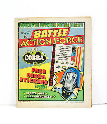 Battle Action Force Comic - 15th June 1985 - Very Good Condition