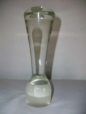 Antique Vintage Glass Apothecary Pestle Rare Design 9 1/2""