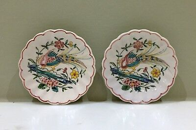 VINTAGE hand-painted pair of decorative Portugese dishes - OUTEIRO AGUEDA