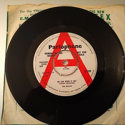"The Beatles- We Can Work It Out/ Day Tripper.. UK 7"" Demo Disc. Original  R5389"