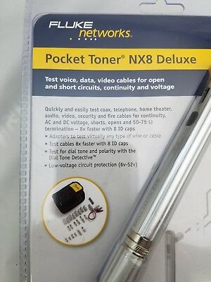 Fluke Networks Nx8 Deluxe, Ptnx8-Dlx Pocket Toner With Id Caps And Adapters