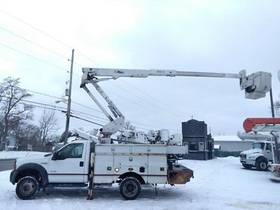 2006 FORD F550 4x4 42' BUCKET BOOM TRUCK ARTICULATING & TELESCOPIC BOOM SERVICE