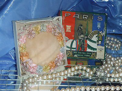 Antique Paris Pin Sewing Cushion with Original Box