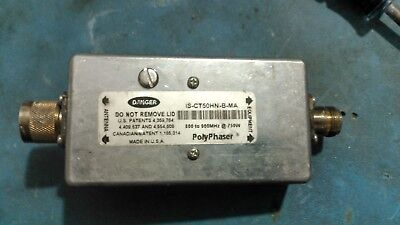 PolyPhaser IS-CT50HN-B-MA 800-900MHz High Power  Surge Suppressor