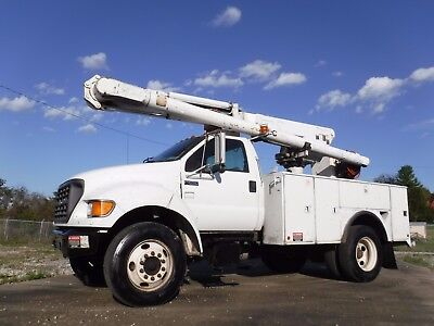 2000 Ford F650 47' Over Center Boom Bucket Truck Utility Under Cdl!!