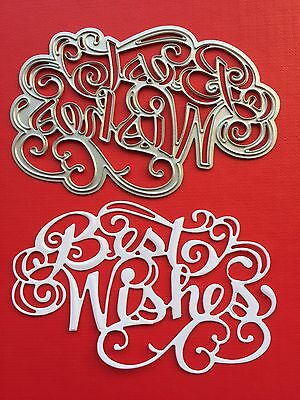 NEW• BEST WISHES WORDS FLOURISH DIE For Cuttlebug Or Sizzix
