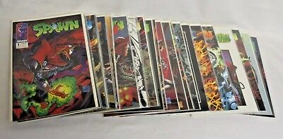 Spawn #1 - 25 Todd McFarlane Art Image Comics 1992 Lot Excellent Condition