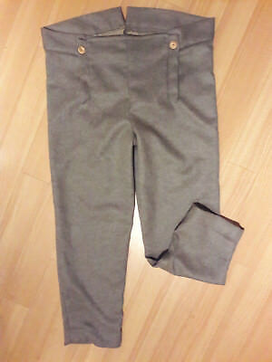 British Napoleonic Grey Wool Trousers, 1812 Issue, Re-Enactor, Re-Enactment
