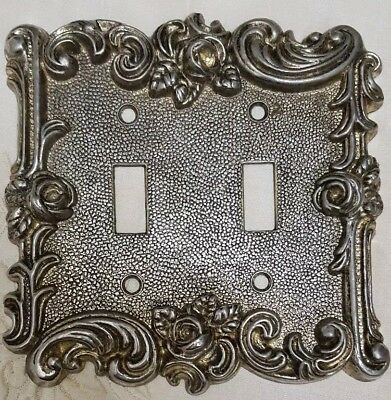 Vintage American Tack & HDWE 1967 60TT Dbl. Switch Cover-Brass