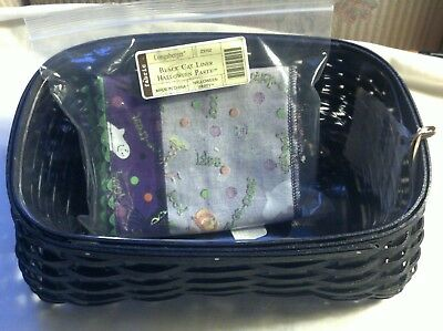 2009 Longaberger Halloween Black Cat Basket With Liner and Protector