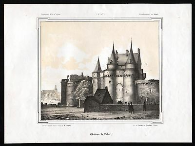 1860 vitre ille et vilaine ansicht vue bretagne frankreich france lithographie eur 35 99. Black Bedroom Furniture Sets. Home Design Ideas