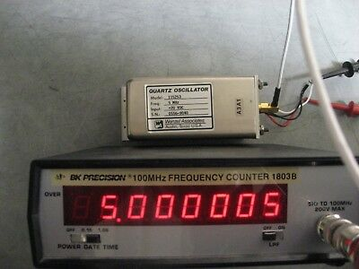 Wenzel Quartz Oven Oscillator 5 MHz Guaranteed to work! Bracket & cable R incl.