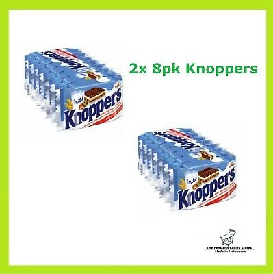 Knoppers 2 x 8pk Waffle Sandwich Chocolate MADE IN GERMANY