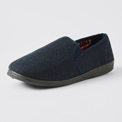NEW Gavin Gusset Slipper - Navy
