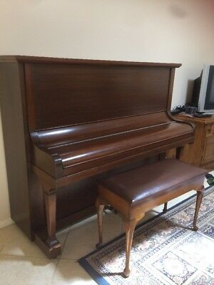 Antique Upright Piano And Stool