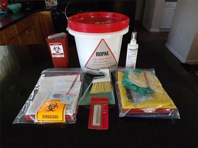 Bloodborne Pathogen Kit Bodily Spill and Response Kit Single Person New