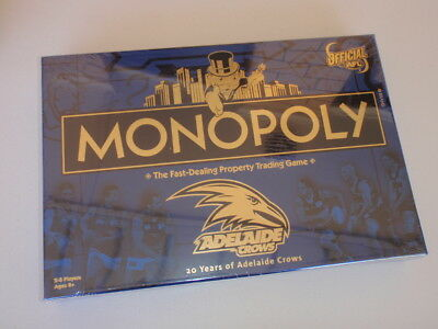 New Sealed Monopoly Board Game - Adelaide Crows - 20 Years Edition - Afl