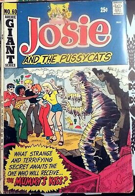 Archie Giant Series comic book Josie and the Pussycats #60 Deb 1972